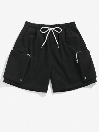 ZAFUL Zipper Pocket Cargo Shorts - Black M