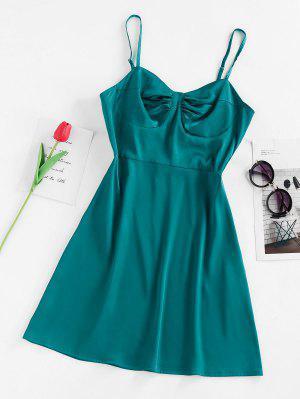 zaful ZAFUL Satin Cupped Mini Dress