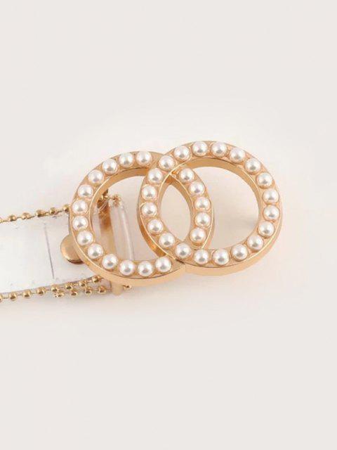 Cintura a Fibbia Traparente con Perla Sintetica - Trasparente  Mobile