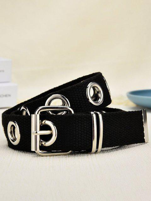 outfit Punk Grommet Pin Buckle Belt - BLACK  Mobile