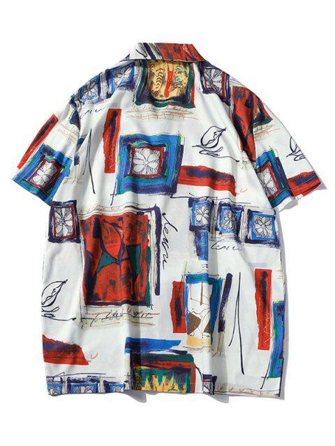 outfit Painting Graphic Print Streetwear Shirt - LAVA RED XXL Mobile