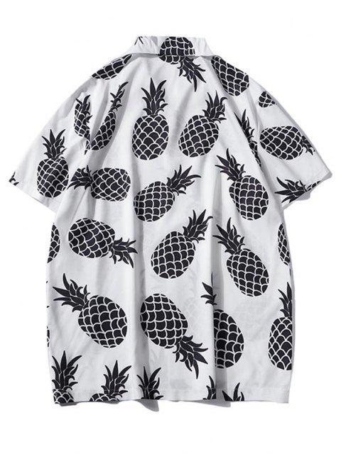 Ananas-Druck-Urlaubs-Shirt - Weiß XXL Mobile