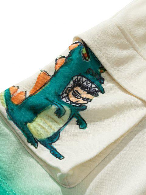 Ombre Cartoon Dinosauriermuster Zugstange - Warmweiß L Mobile