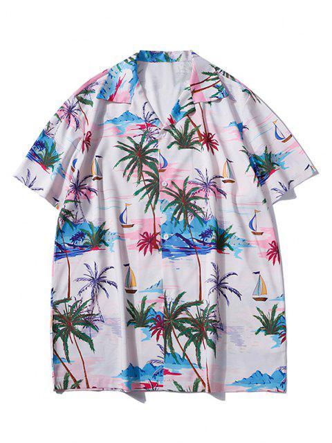 Hawaii Palme Baumdruck Urlaub Hemd - Sakura Rosa L Mobile