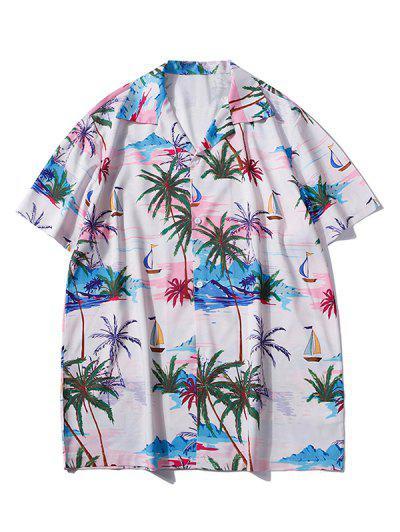 Palm Tree Hawaii Vacation Shirt - Sakura Pink M