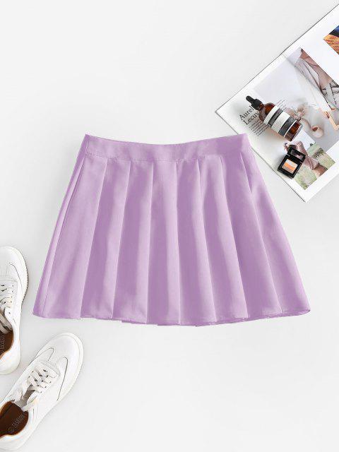 ZAFUL High Waist Pleated Mini Skirt - خبازي S Mobile