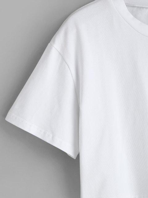 best Plain Boxy Crop Tee - WHITE M Mobile