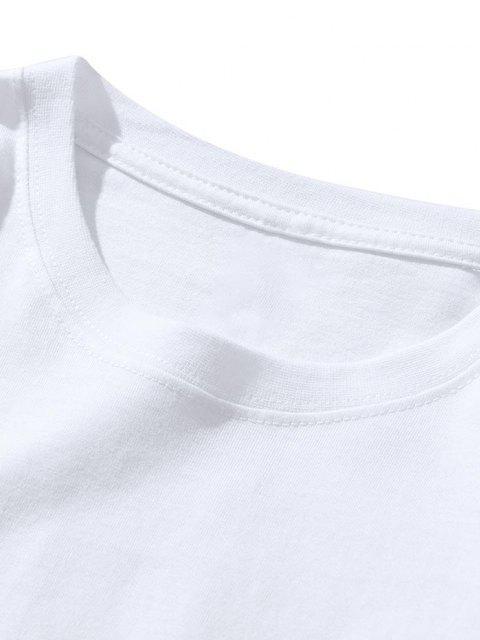 T-Shirt con Stampa Lettere Passion e Maniche Corte - Bianca XL Mobile