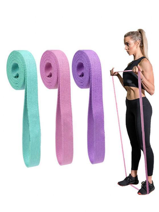 3Pcs 2M Yoga Hip Training Resistance Band Set - Multi
