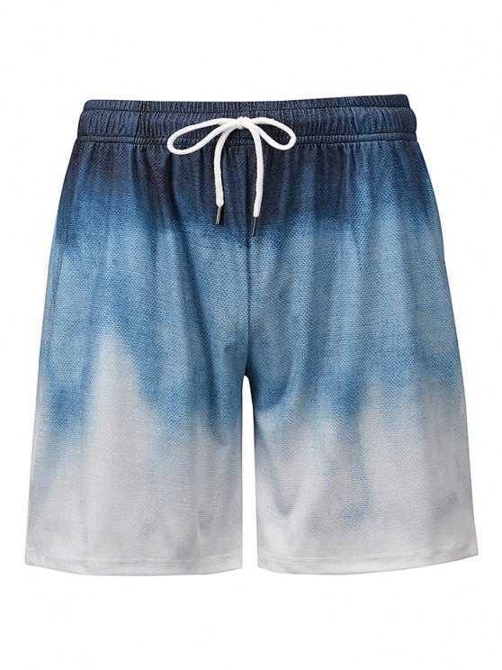 Pantaloncini Casuali di Ombre - Blu Koi 2XL