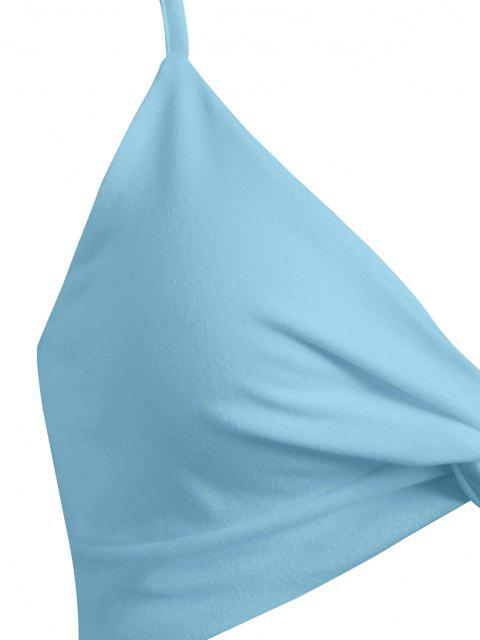 Top Cami Corto Attorcigliato di ZAFUL - Azzurro S Mobile