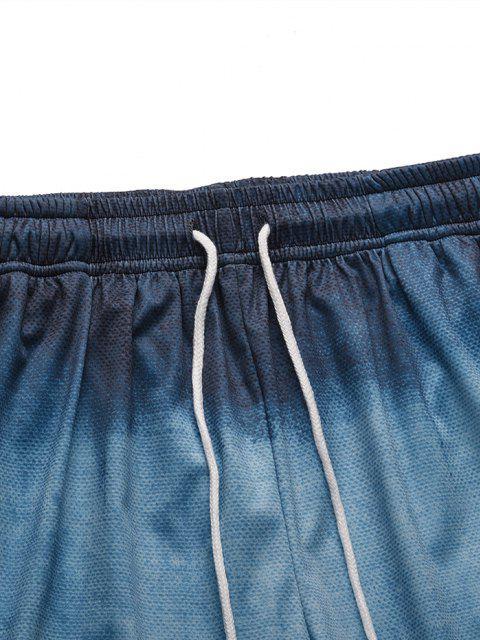 Short Décontracté Ombré Imprimé - Bleu Koi XL Mobile