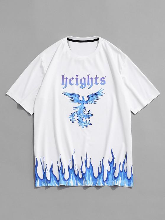 Höhen Feuer Phoenix Kurzarm T-Shirt - Weiß M