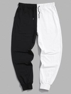 Two Tone Jogger Sweatpants - Black M
