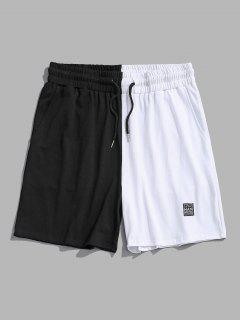 Two Tone Casual Shorts - Black 2xl