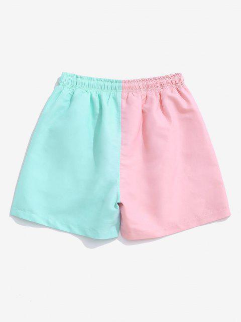 Two Tone Drawstring Shorts - متعدد 2XL Mobile