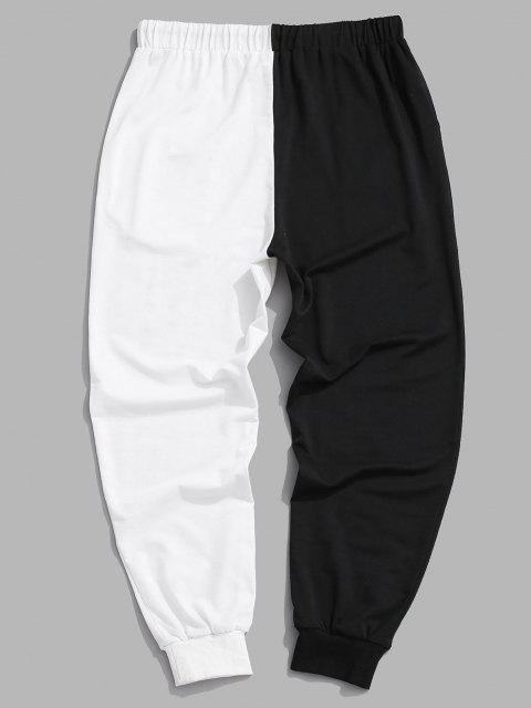 womens Two Tone Jogger Sweatpants - BLACK L Mobile