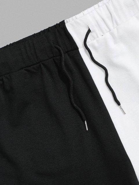 Pantalones Deportivos Dos Tonos - Negro M Mobile
