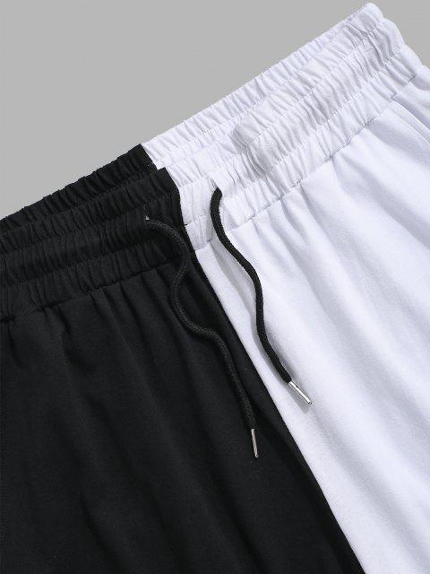 Short Décontracté Bicolore - Noir XL Mobile