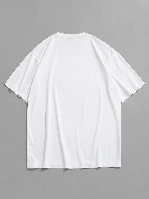 fashion Heights Fire Phoenix Short Sleeve T-shirt - WHITE M Mobile
