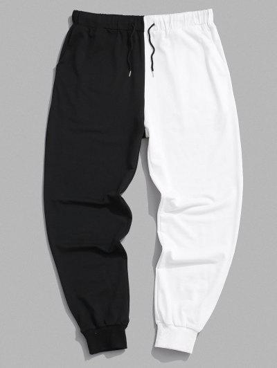 Two Tone Jogger Sweatpants - Black M