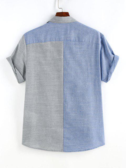 Schmale Streifen und Halbes Ärmel Hemd - Multi S Mobile