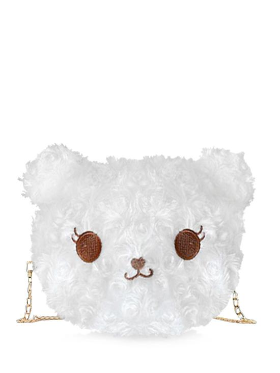 Fluffy Cartoon Animal Chain Crossbody Bag