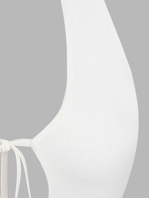 ZAFUL Neckholder Tank Top mit Bindeband - Weiß M Mobile
