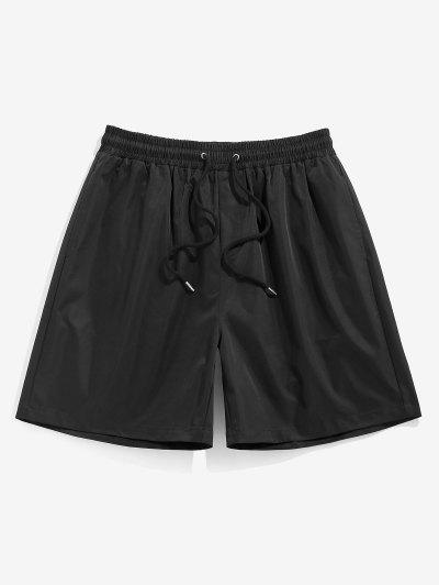 Pantaloncini Casuali Di ZAFUL Con Coulisse In Tinta Unita - Nero S