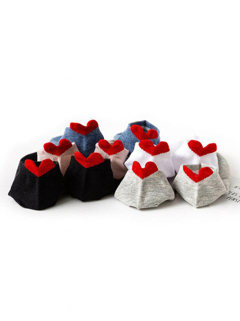 best 5 Pair Heart Shape Anti-Chafe Tab Ankle Socks Set - MULTI  Mobile
