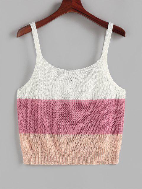 women's ZAFUL Ladder Colorblock Plus Size Sweater Vest - MULTI L Mobile