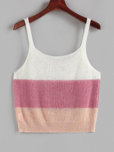 ZAFUL Ladder Colorblock Plus Size Sweater Vest - Multi L