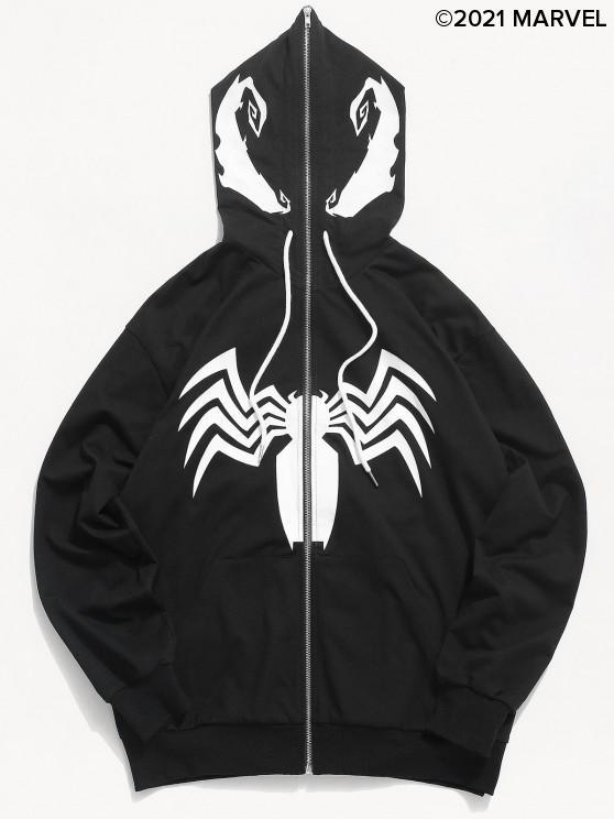 Marvel Spider-Man Graphic Zip Fliegen Hoodie - Schwarz S