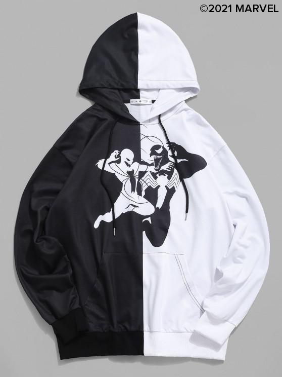 outfits Marvel Spider-Man Venom Graphic Two Tone Hoodie - BLACK S