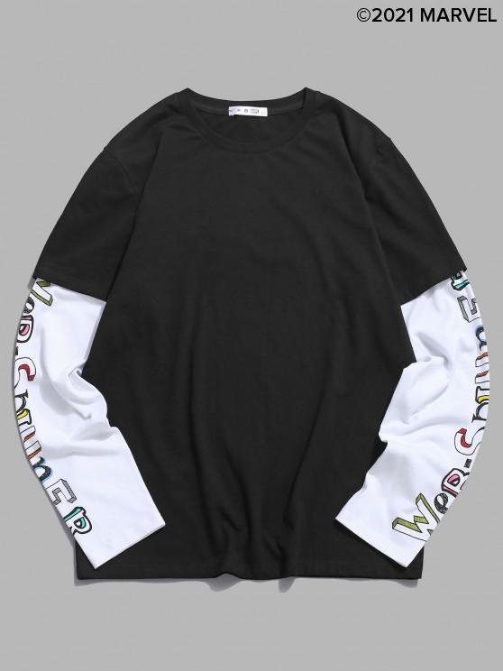 best Marvel Spider-Man Web-spinner Doctor Sleeve T-shirt - BLACK XL