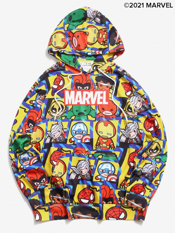 trendy Marvel Spider-Man Heroes Graphic Hoodie - YELLOW M