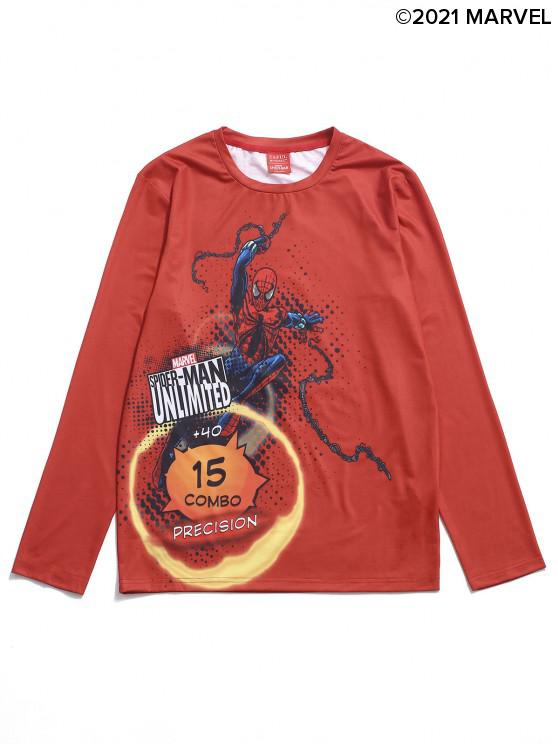outfits Marvel Spider-Man Unlimited Graphic Long Sleeve Tee - RED S