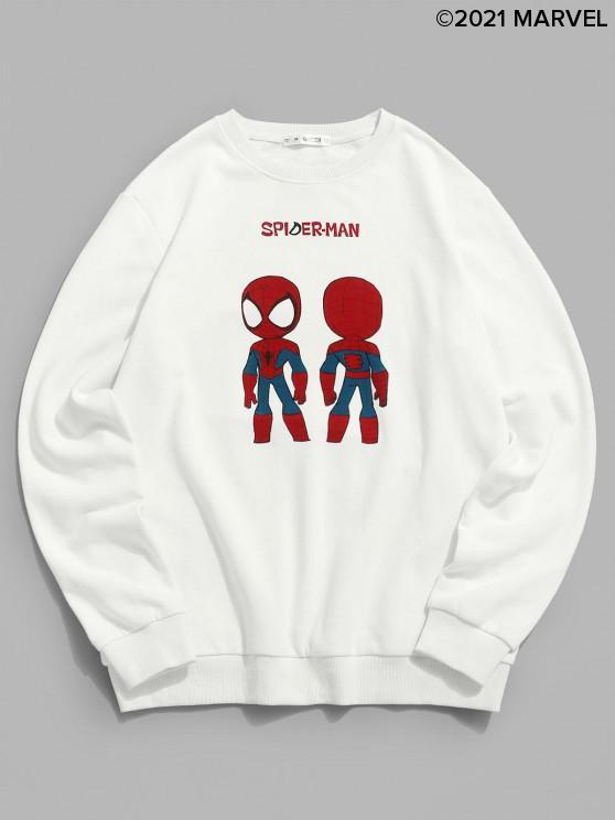 unique Marvel Spider-Man Graphic Sweatshirt - WHITE M