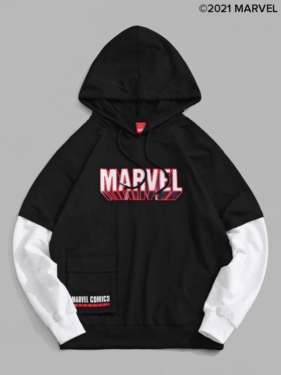 women Marvel Spider-Man Pocket Doctor Sleeve Hoodie - BLACK L