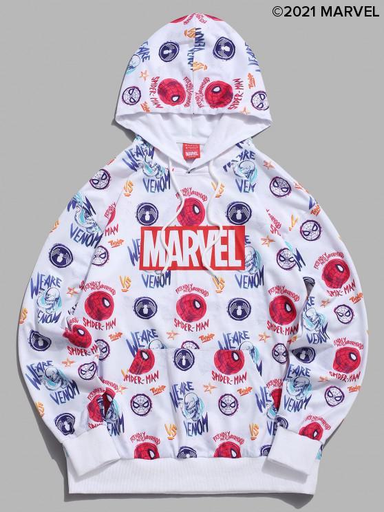 online Marvel Spider-Man Venom Allover Pattern Graphic Hoodie - WHITE L