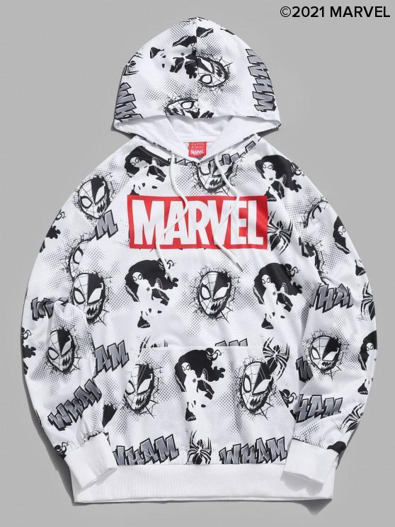women's Marvel Spider-Man Venom Comic Graphic Hoodie - WHITE XL