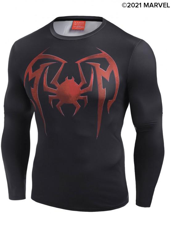 shop Marvel Spider-Man Graphic Tee - BLACK L
