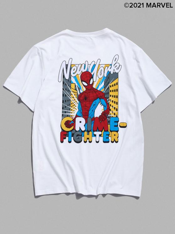 lady Marvel Spider-Man Crime-Fighter Graphic T Shirt - WHITE M