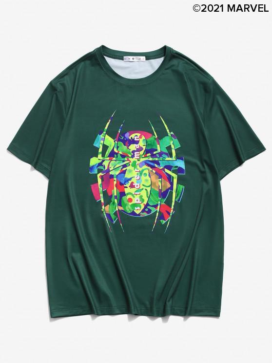 T-shirtGraphiqueMarvel Spider-ManImpriméàManchesCourtes - Vert profond 2XL