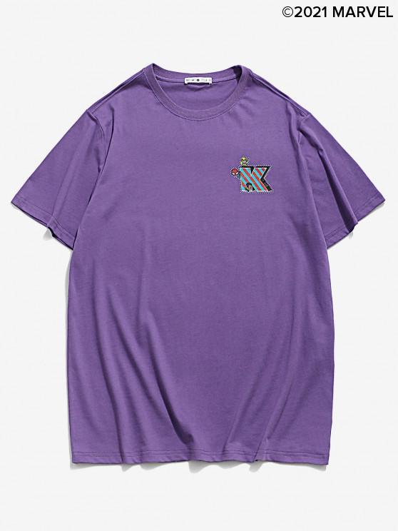 Camiseta BásicadeMarvelconEstampadodeSpider-Man - Amatista Morada L