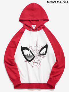 Marvel Spider-Man Colorblock Raglan Sleeve Hoodie - Multi Xl