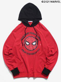 Marvel Spider-Man Letter Graphic Colorblock Hoodie - Multi M