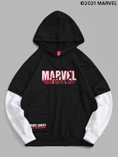 Marvel Spider-Man Pocket Doctor Sleeve Hoodie - Black L
