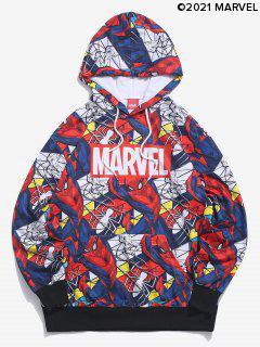 Sudadera Con Capucha Estampado Spider-Man - Azul Oscuro De Denim M
