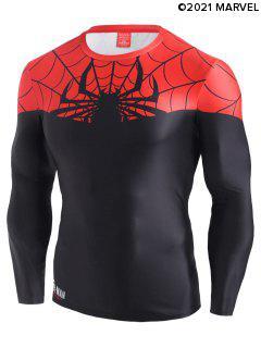 Marvel Spider-Man Color Blocking Tee - Black 2xl